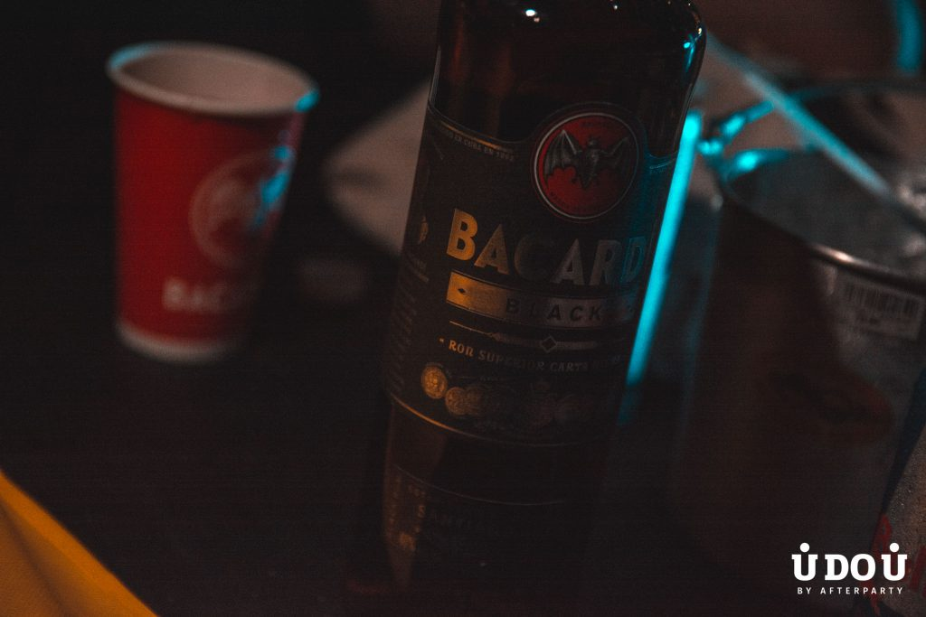 Bacardi bottles at LifeDance 2018